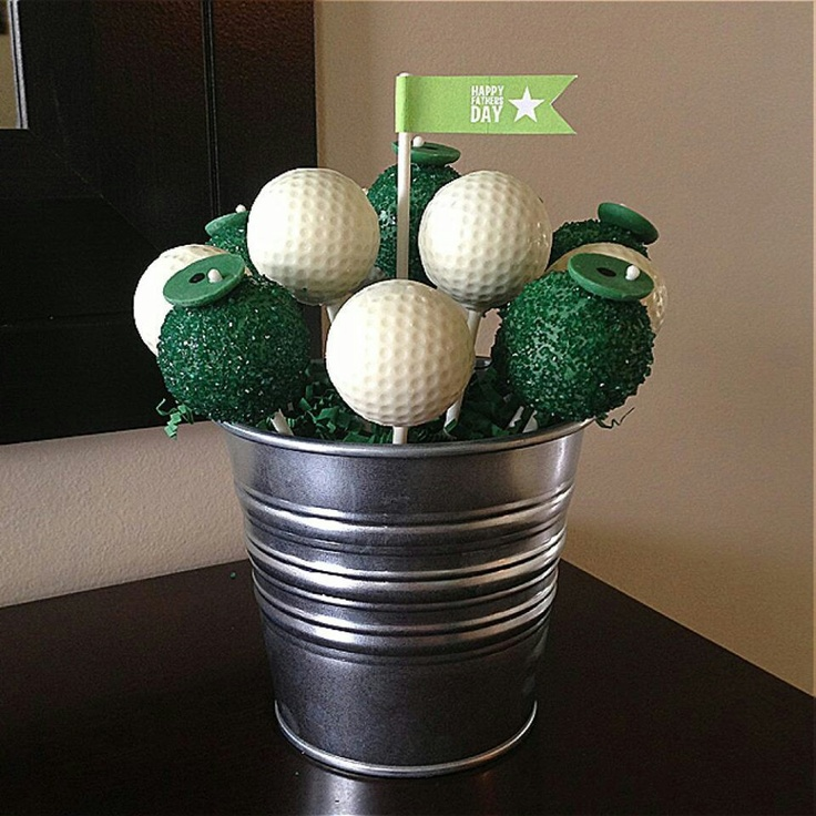 Golf themed cake pops for Father's Day from Lori's Sweet Cakes