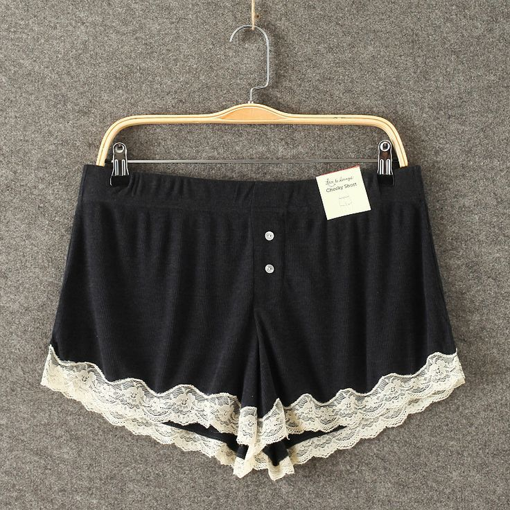 awesome Aliexpress.com : Buy Women Black Pajama Shorts Loose Summer Cute Pajama Bottoms Women Sleepwears Lace Shorts Homewears from Reliable pajamas satin suppliers on MAKE-UP-AS-YOU-LIKE  | Alibaba Group