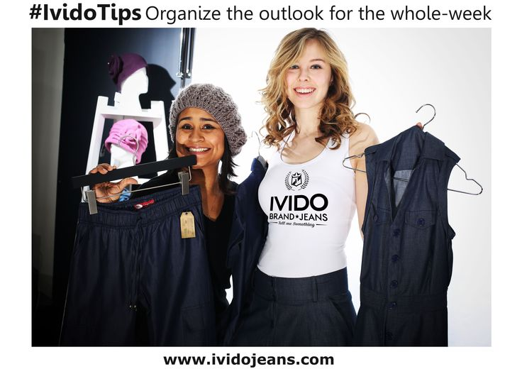 ‪#‎IvidoTips‬ ´Organize the outlook for the whole-week´. Worth it take your time every sunday for open your closet and select your favorite clothes for the entire week. That way you will always have the opportunity of visualize what you typically wear for any occasion or event in particular. ‪#‎TellMeSomething‬ ‪#‎IvidoJeans‬ ¡If You Like it, Share it!