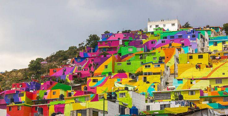 Grafiteiros pintam comunidade inteira no México e violência na região diminui