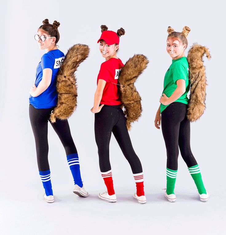 DIY a Chipmunks group Halloween costume with this easy tutorial.