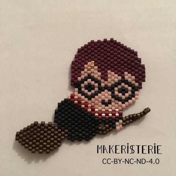 Flying Harry Potter brooch by Makeristerie on Etsy