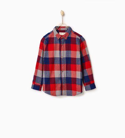 Geruit overhemd-BLOES-JONGENS   4-14 jaar-KINDEREN   ZARA Nederland