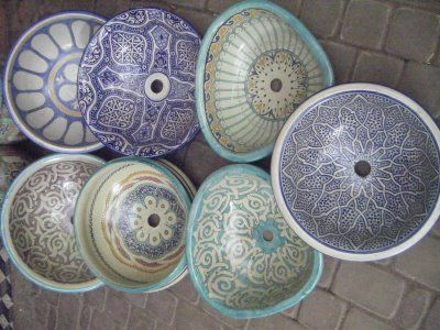 Hand-painted Morrocan sinks!