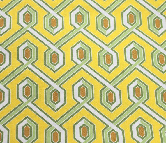 Joel Dewberry Fabric, Abstract Fabric, Deer Valley for Free Spirit, Yellow/Green/Brown/White, Fabric by the HALF YARD, Custom Cuts Available