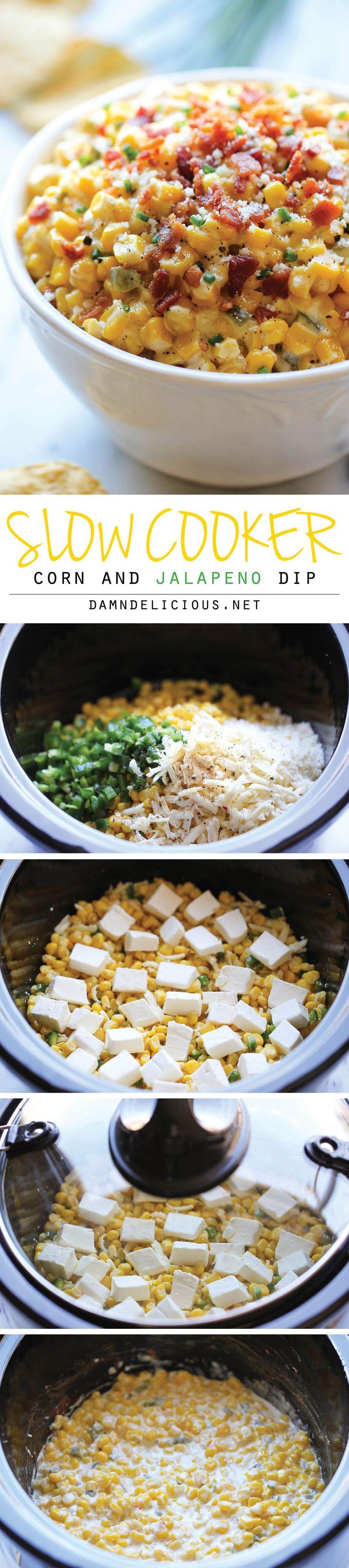 Slow Cooker Corn and Jalapeño Dip