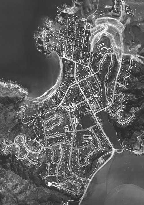 Aerial photo of Titahi Bay 1965.