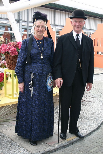 Couple in West Friesland costume