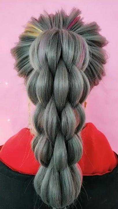 Banana High Horsetail Hair Style ,  ,  #Banana #Hair #high #Horsetail #Style