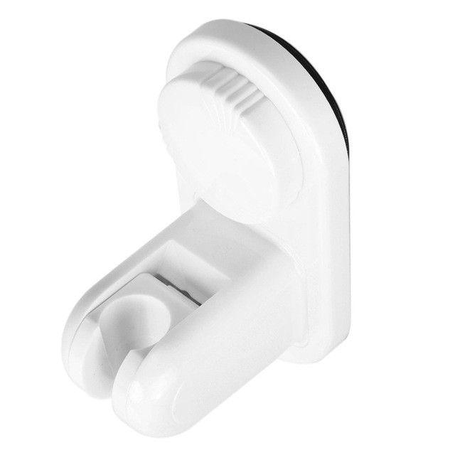 Adjustable Shower Head Holder Wall Mount Shower Head Bathroom Sution Cup Bracket With 360 Degree Rotation Lock Shower Holder