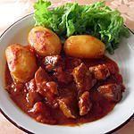 recette Sauté de porc, sauce tomate et pommes de terre