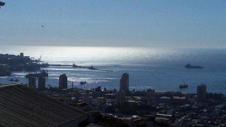 Bahía de Valparaíso , chile.