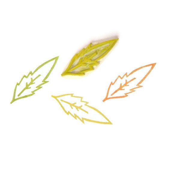 Dandelion Leaf Stamp - Rubber Stamp - Cling Rubber Stamp