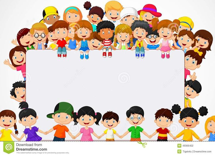 Crowd Children Cartoon With Blank Sign - Download From Over 63 Million High Quality Stock Photos, Images, Vectors. Sign up for FREE today. Image: 49366402
