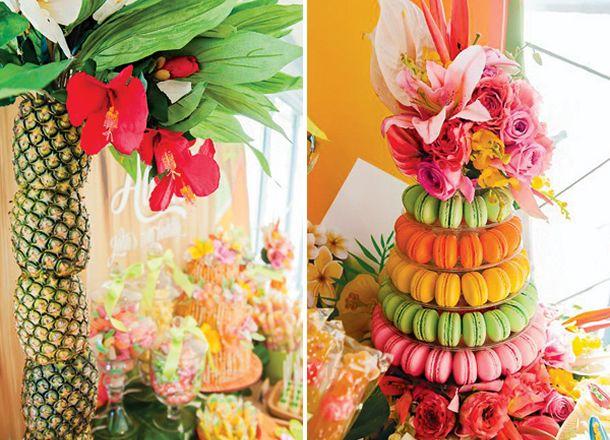 Festa Hawaiana, festa verão, festa praiana, festa hawai, beach party, fruits, summer, decoração festa hawaiana,