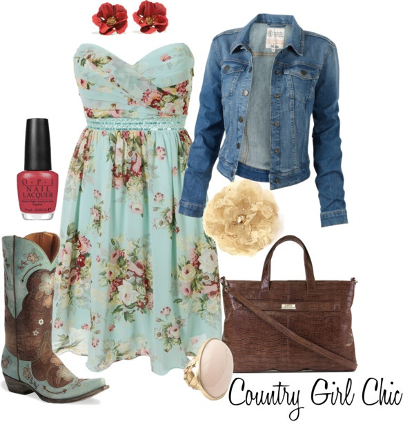 """Country Girl Chic"" by funnygr on Polyvore"