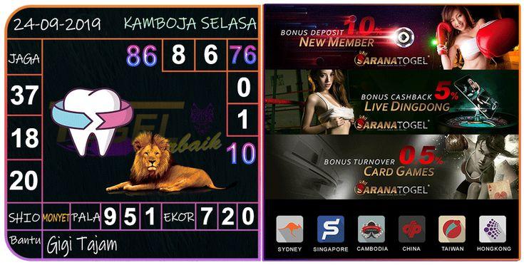 Bocoran Togel Kamboja Selasa 24 September 2019 | Kamboja