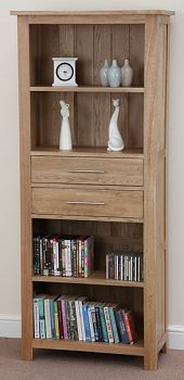 For alcove in living room or dining room.   Rivermead Solid Oak Bookcase / Storage Unit