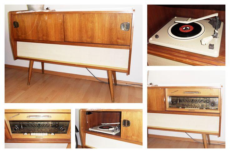 Phonoschrank, Musikschrank, 50er, 60er Jahre