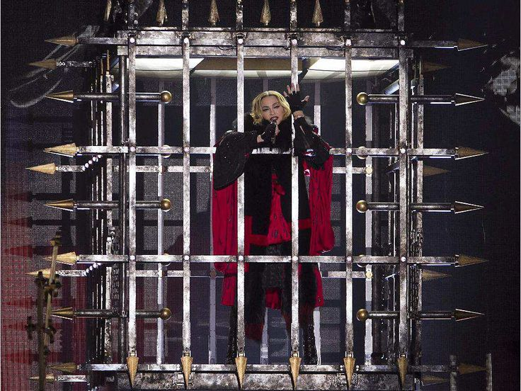 Madonna at the start of her concert at the Bell Centre in Montreal on Wednesday September 9, 2015. Madonna is launching her worldwide Rebel Heart Tour with two shows at the Bell Centre.