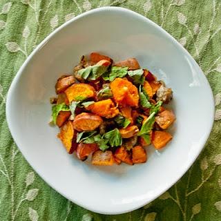 sweet potato + sausage hash | Potatoes | Pinterest