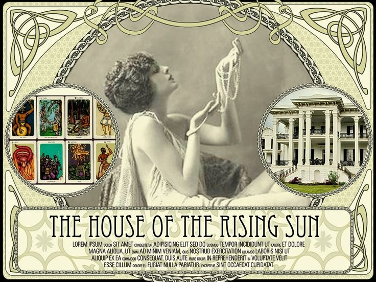 Storyville House of the Rising Sun ad vintage New Orleans: History Photo, New Orleans