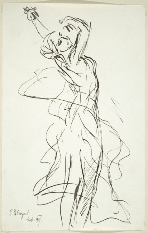 Line Drawing Figure : Best images about john singer sargent on pinterest