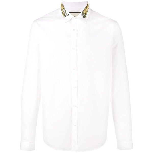 Gucci Gucci Men's White Cotton Shirt | Bluefly.Com ($607) ❤ liked on Polyvore featuring men's fashion, men's clothing, men's shirts, white, gucci mens shirts, off white mens clothing, men's apparel, mens clothing and mens white cotton shirts