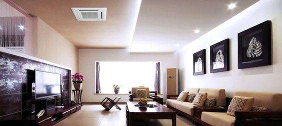 Ductless Ceiling Cassette In Livingroom Ceiling Design Living