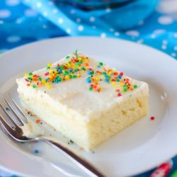 A discussion of blogging and, more importantly, a White Sheet Cake with Fluffy Whipped Icing.