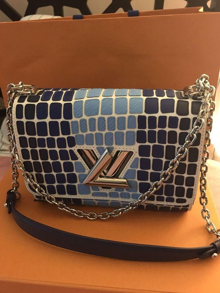 Ultra Ltd. Edition New W/ Tags Louis Vuitton Twist MM Sava Blue- Only 10 in USA #LouisVuitton #ShoulderBag