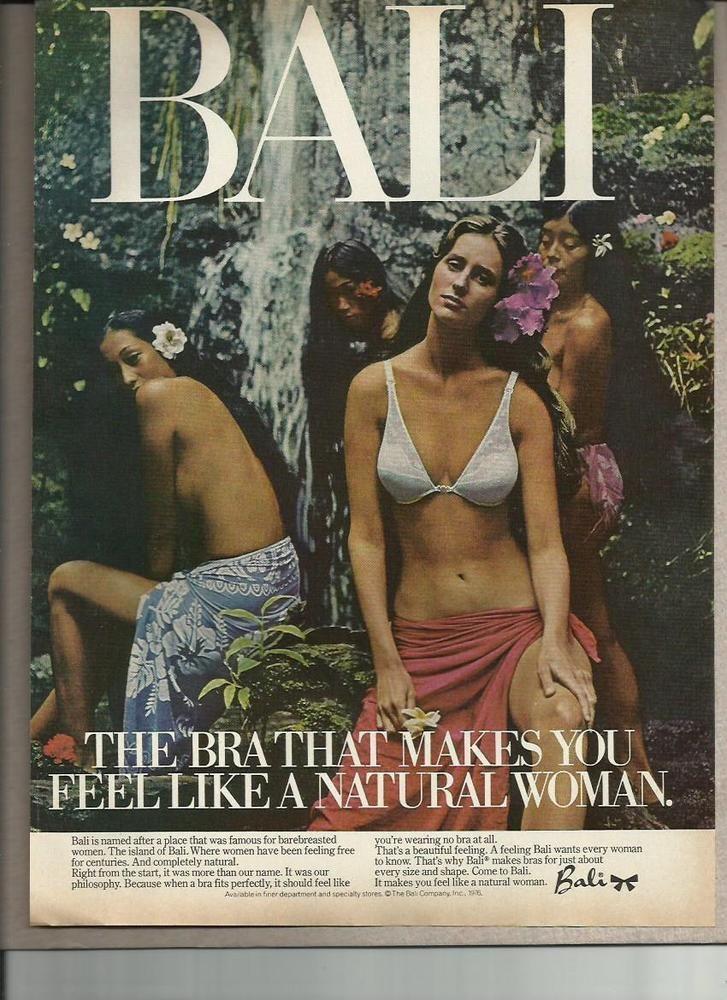 ea59da9d8858 1976 Bali Bra Lingerie Cute Girl Sexy Woman Color Photo Vintage Print Ad |  eBay