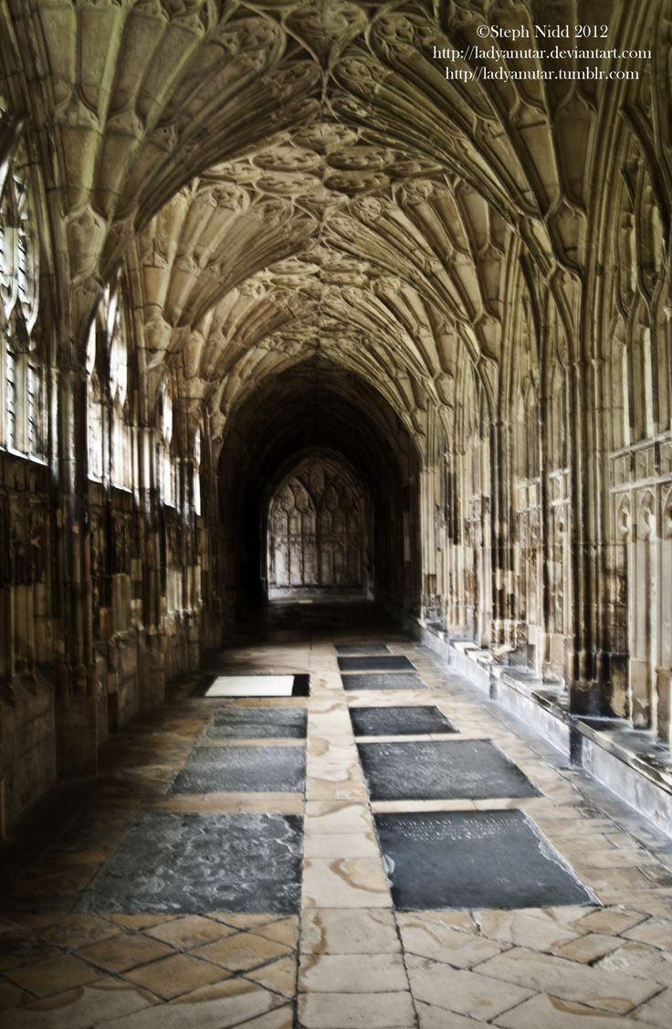 The cloister at Gloucester Cathedral. Also where Harry Potter and the Chamber of Secrets was filmed =)