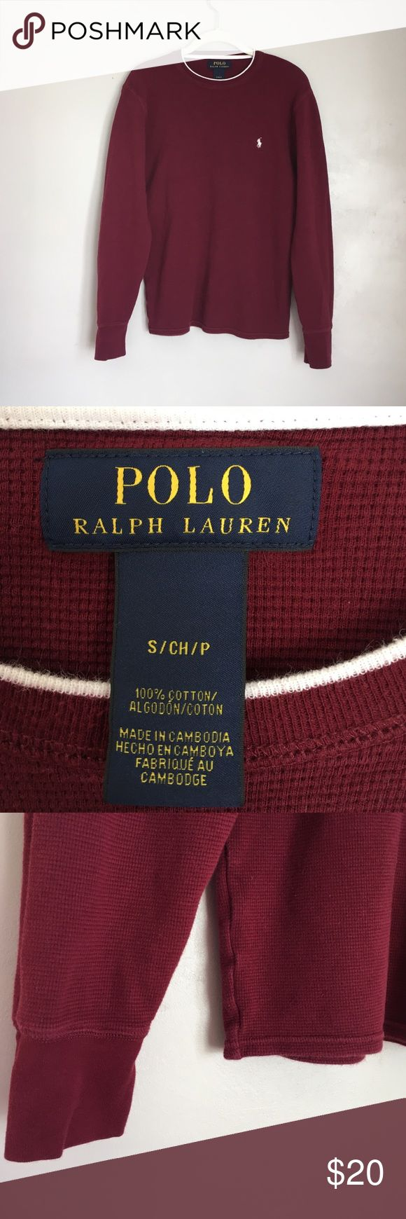 BOYS LONG SLEEVE POLO THERMAL BOYS LONG SLEEVE POLO THERMAL. EUC. Color is most like first three pictures. See pictures for measurements. Length measured from top of neck. Polo by Ralph Lauren Shirts & Tops Tees - Long Sleeve