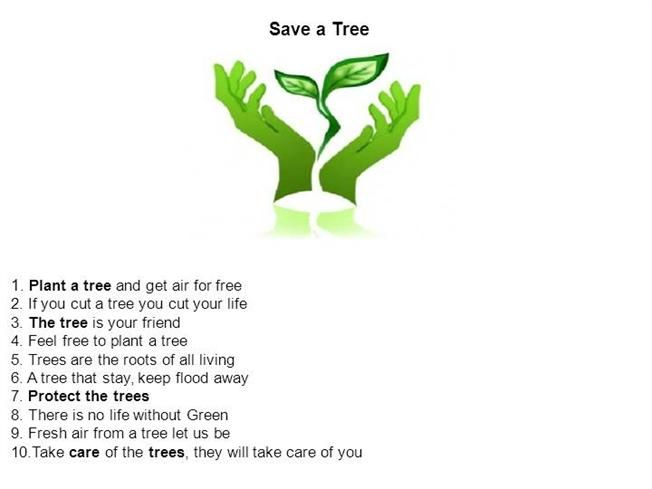 save tree presentation by aSGuest133040 via authorSTREAM