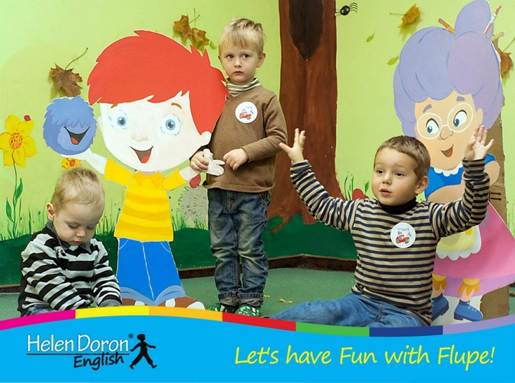 From Helen Doron English in Ukraine: Let's have Fun with Flupe!  Fun With Flupe is a new course for 2 to 5 year olds, appropriate for beginner students or as a follow up to Baby's Best Start.  Fun With Flupe follows the adventures of a young Paul Ward as he jumps into his book of nursery stories to help Granny Fix and Flupe repair things that have gone wrong in the rhymes. Find out more! http://www.helendoron.com/fwf.php