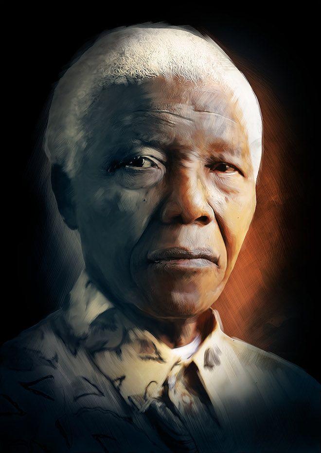 #NelsonMandela #digitalportrait by #RichardDavies
