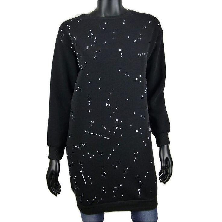 Sweater jurk met verf spetters in zwart  2250  Online: www.dannyschoice.nl  En in de winkel: #Beverwijk
