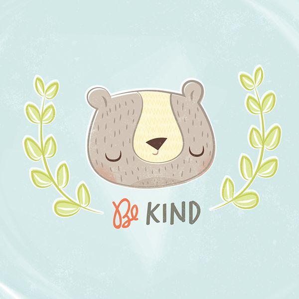 Be Kind Bear by Ashley Giessing, via Behance