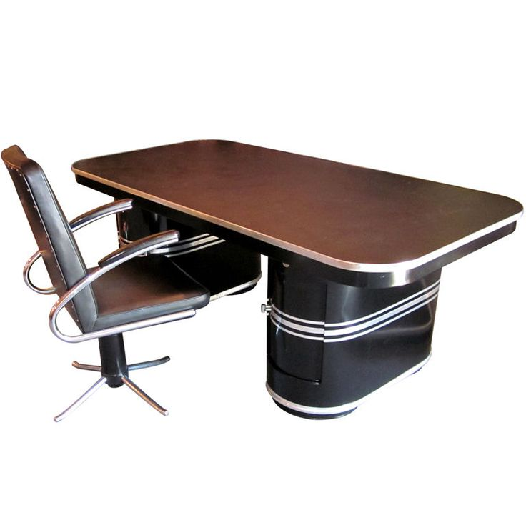Important Art Deco Desk and Chair by Mauser | From a unique collection of antique and modern desks and writing tables at http://www.1stdibs.com/furniture/tables/desks-writing-tables/
