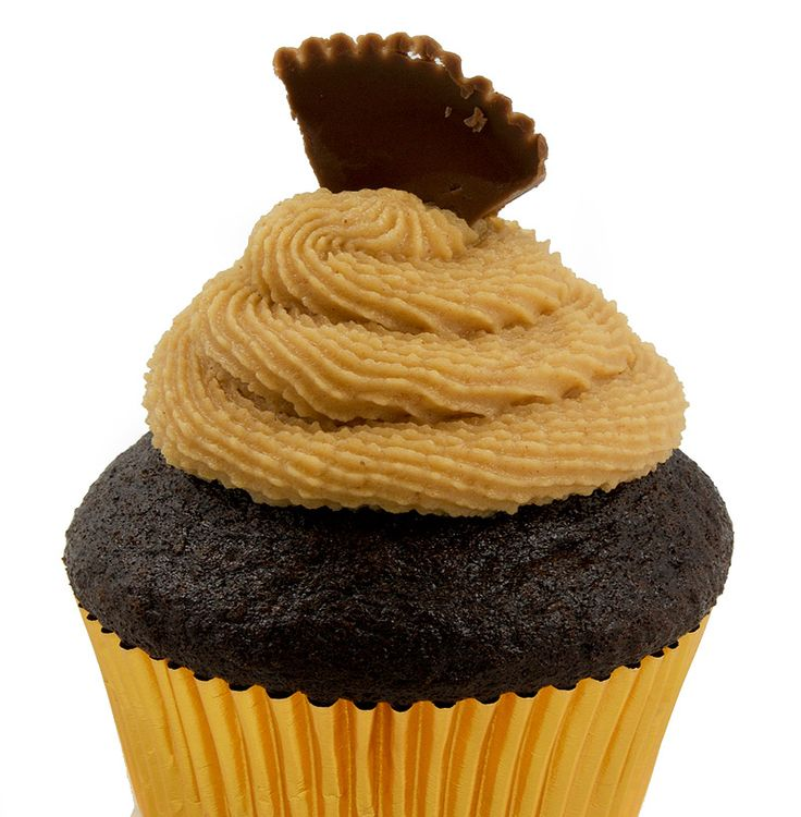 One-Bowl Chocolate Cupcakes with Creamy Peanut Butter Frosting