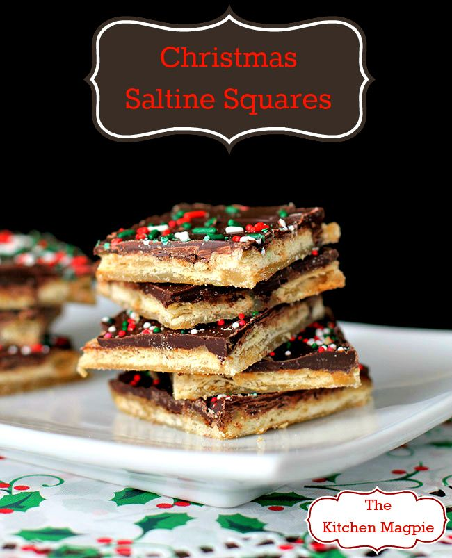 Saltine Toffee Squares, easy, fast and a Christmas classic! From @kitchenmagpie
