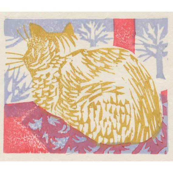 """Winter Night"" by Matt Underwood (woodblock print)"
