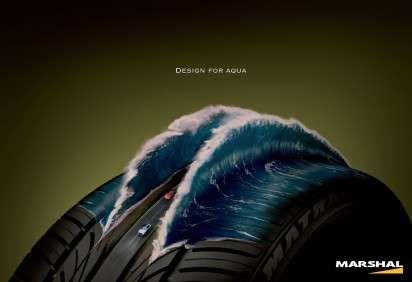 Tire Diorama Ads: The Kumho Tires Campaign are Imaginatively Informative (by Rhizome, Seoul, South Korea)