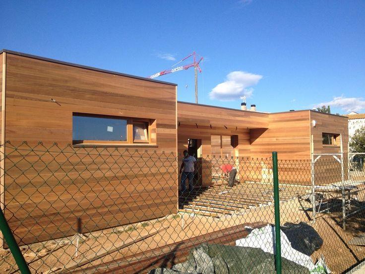 Construcci n casa con estructura de madera de pino n rdico - Casas con estructura de madera ...
