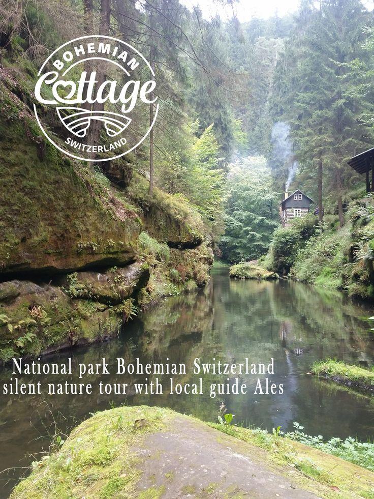 Bohemian Switzerland National Park . hiking throught silent nature
