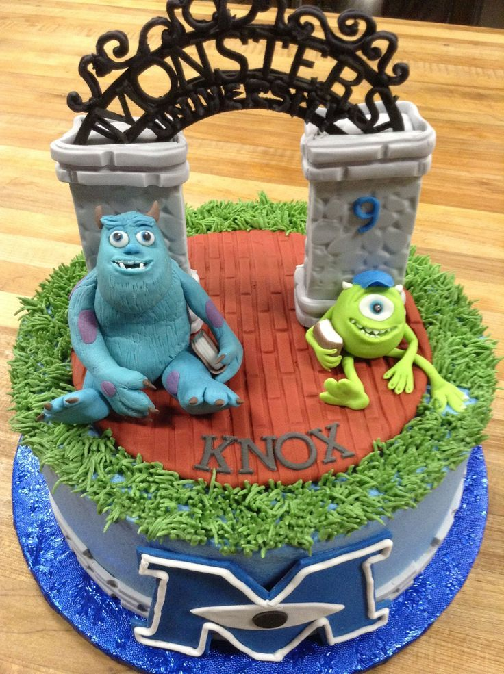 Skully and Mike! Monster University cake - For all your cake decorating supplies, please visit craftcompany.co.uk