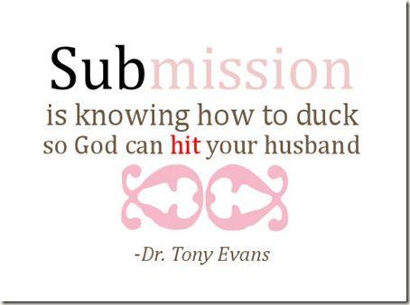 tony evans submission quote