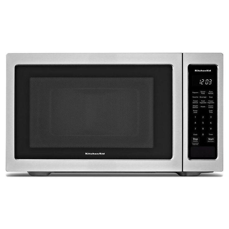 KitchenAid 1.6-cu ft 1200-Watt Countertop Microwave (Stainless Steel)