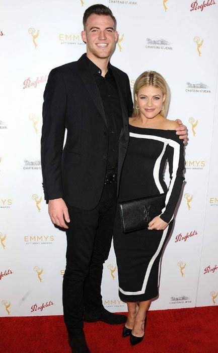 Witney Carson and Carson McAllister at the Emmy Award Nominees for Outstanding Choreography Cocktail Reception in September 2015...